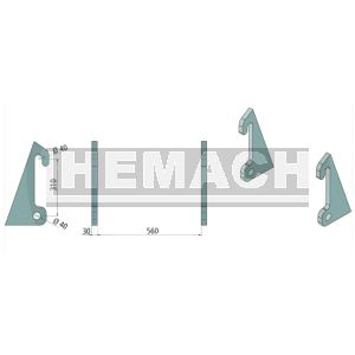 Aanlasdelen Giant / Fuchs schuin 30mm