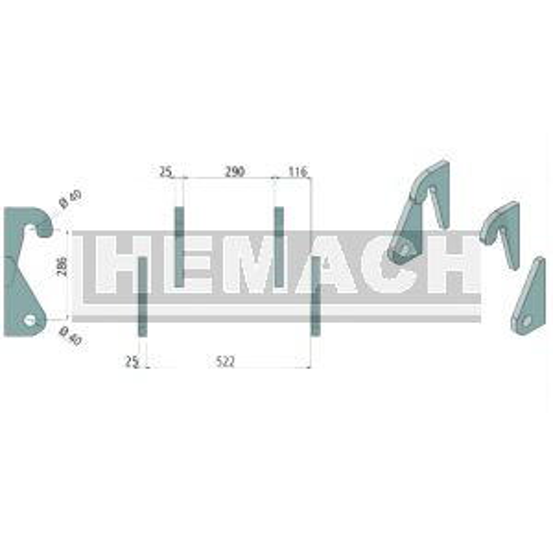 Aanlasdelen Ahlmann, AS 45, 50e, AF60, AL60, 60e