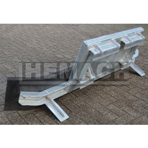 Rubberschuif / modderschuif / mestschuif vast met verreiker aansluiting(staal inlage)