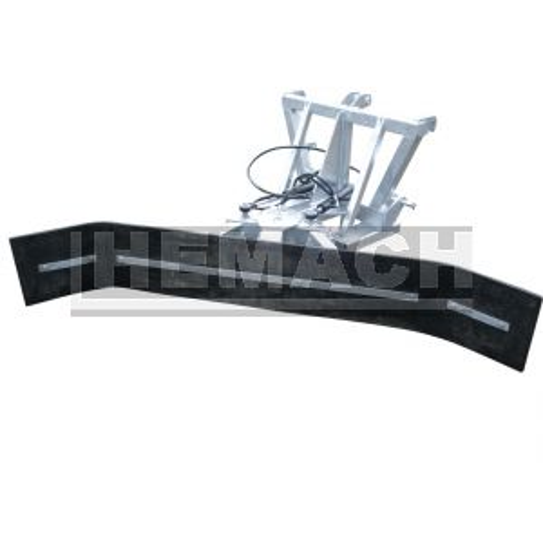 Rubberschuif / modderschuif / mestschuif verstelbaar met mini-shovel aansluiting(staal inlage)