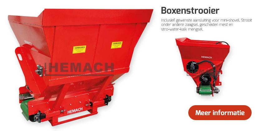 Hemach Boxenstrooier 1000 liter